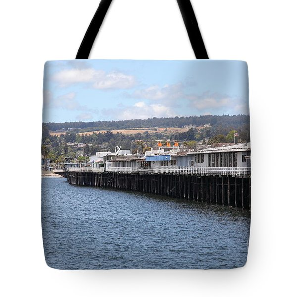 Municipal Wharf At The Santa Cruz Beach Boardwalk California 5D23815 Tote Bag by Wingsdomain Art and Photography