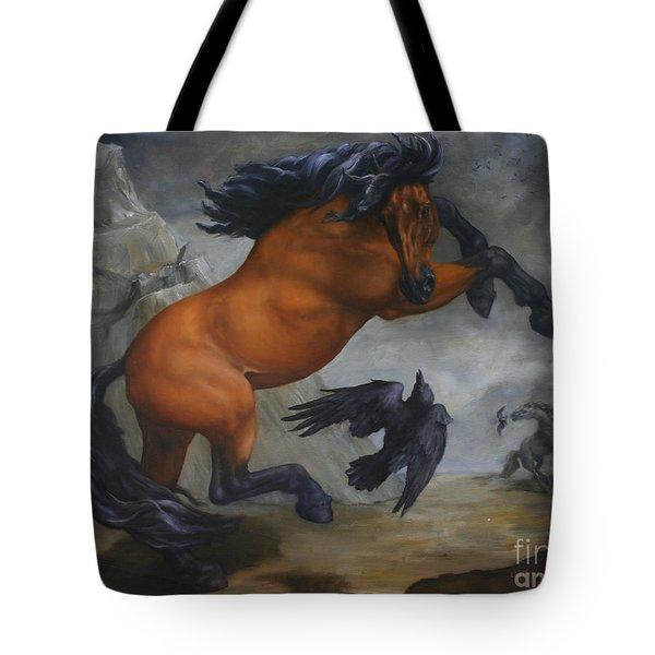 Murder Of Crows Tote Bag by Lisa Phillips Owens