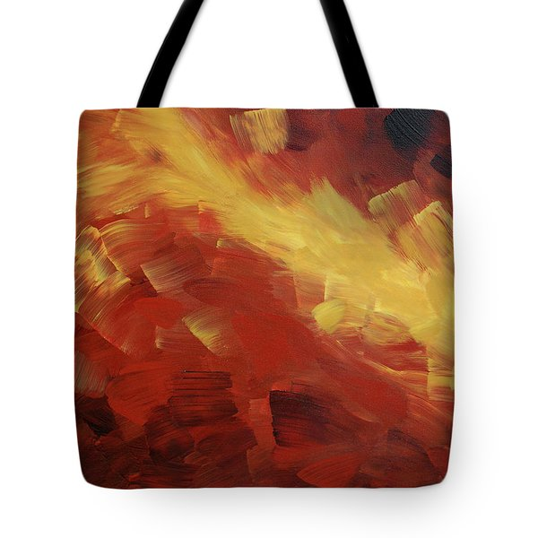 Muse In The Fire 1 Tote Bag by Sharon Cummings