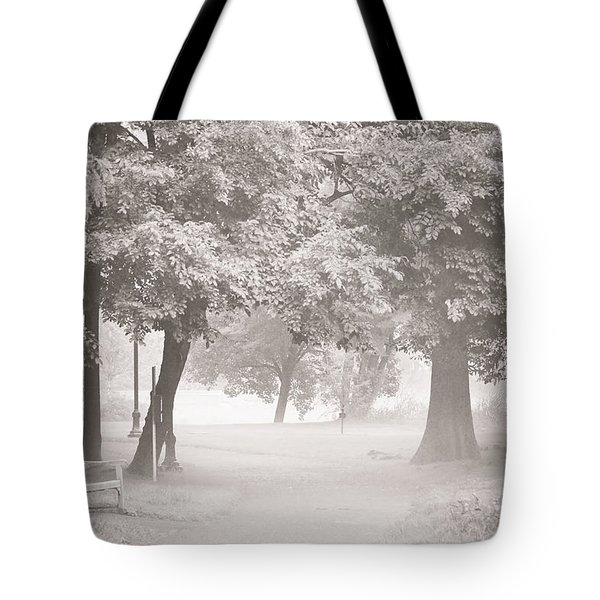 Museum Park Fog Tote Bag by Trish Tritz