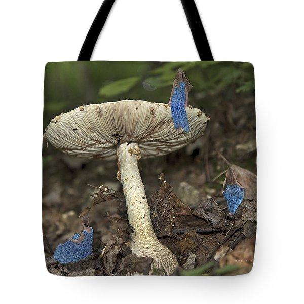 Mushroom Tote Bag by Betsy C  Knapp