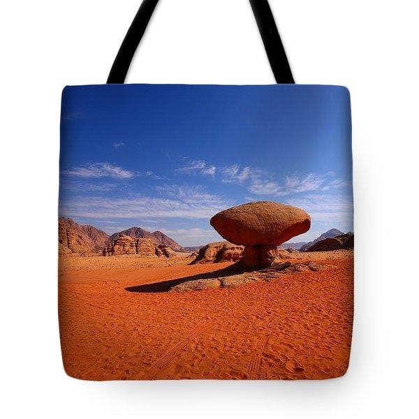 Mushroom Rock Tote Bag by FireFlux Studios