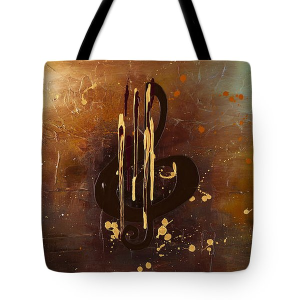 Music All Around Us Tote Bag by Carmen Guedez