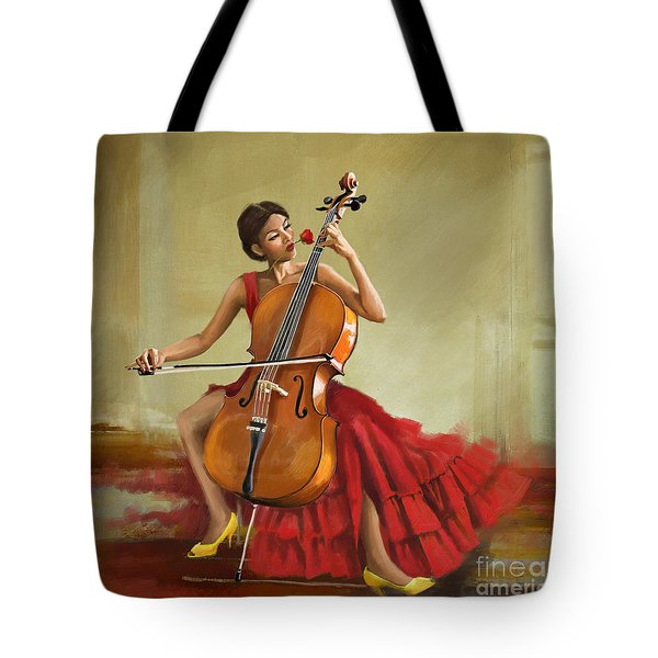 Music And Beauty Tote Bag by Corporate Art Task Force