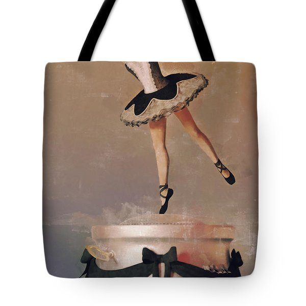 Music Box Ballet Dancer Tote Bag by Liam Liberty