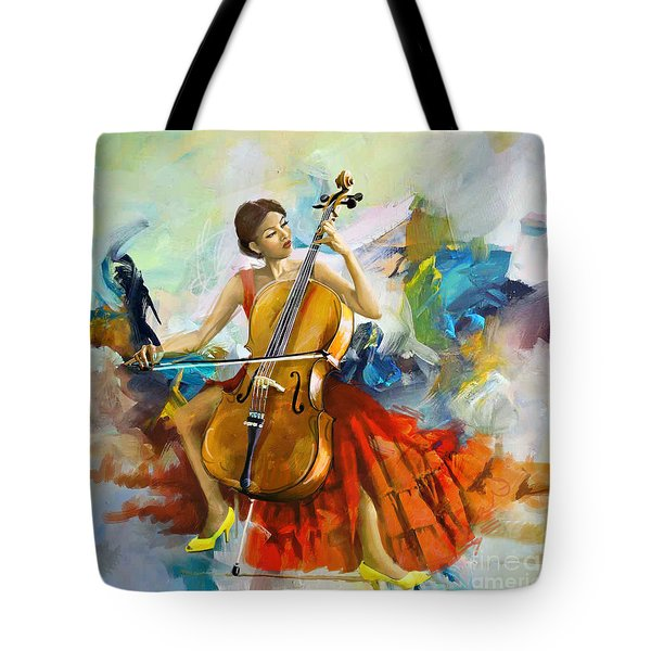 Music Colors And Beauty Tote Bag by Corporate Art Task Force