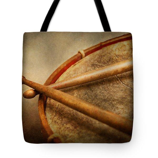 Music - Drum - Cadence  Tote Bag by Mike Savad
