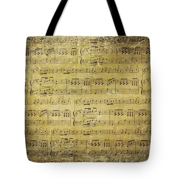 Music Is What Feelings Sound Like Tote Bag by Sylvia Cook