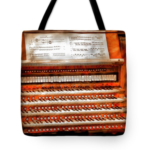 Music - Organist - The Pipe Organ Tote Bag by Mike Savad