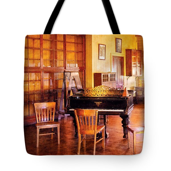 Music - Piano - Ready for Piano Lessons Tote Bag by Mike Savad