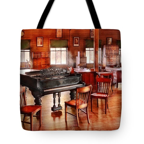 Music - Piano - The grand piano Tote Bag by Mike Savad