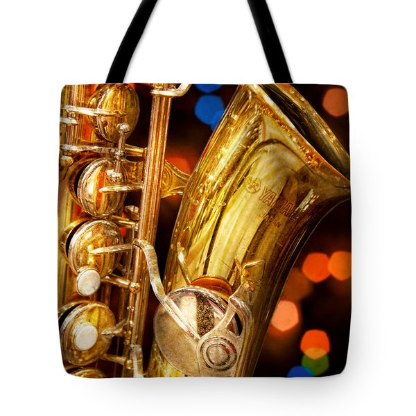Music - Sax - Very Saxxy Tote Bag by Mike Savad