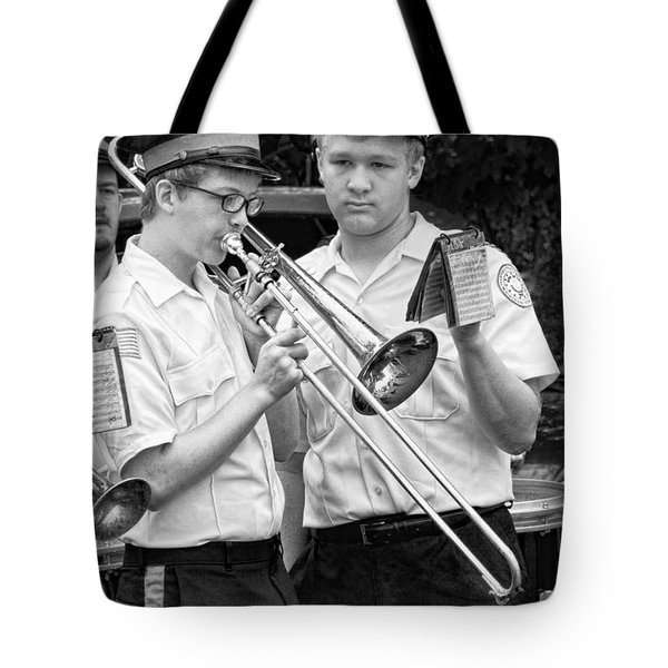 Music - Trombone - A helping hand  Tote Bag by Mike Savad