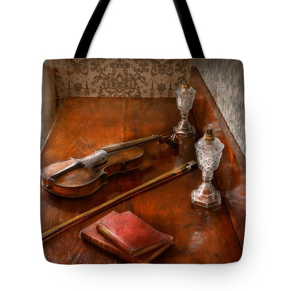Music - Violin - A Sound Investment  Tote Bag by Mike Savad