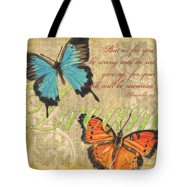 Musical Butterflies 1 Tote Bag by Debbie DeWitt