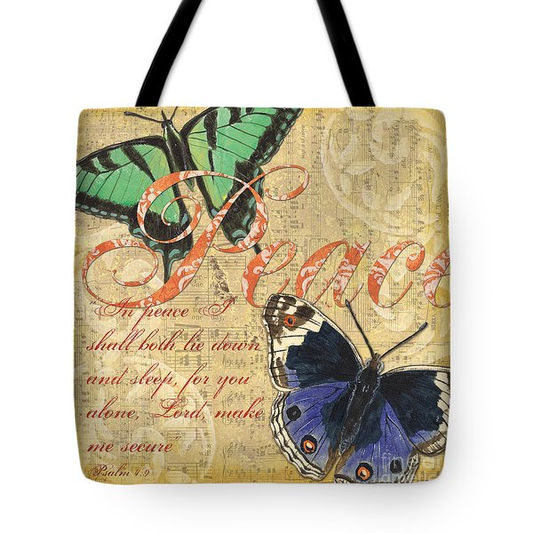 Musical Butterflies 2 Tote Bag by Debbie DeWitt