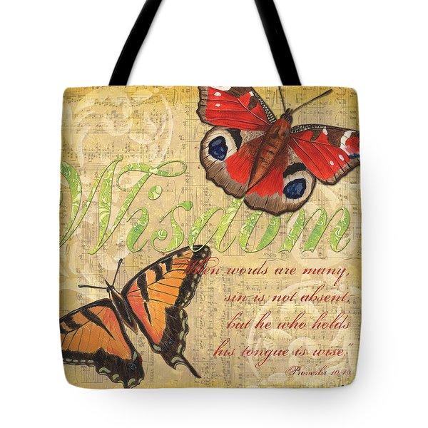 Musical Butterflies 4 Tote Bag by Debbie DeWitt