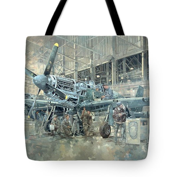 Mustang At Warton Tote Bag by Peter Miller