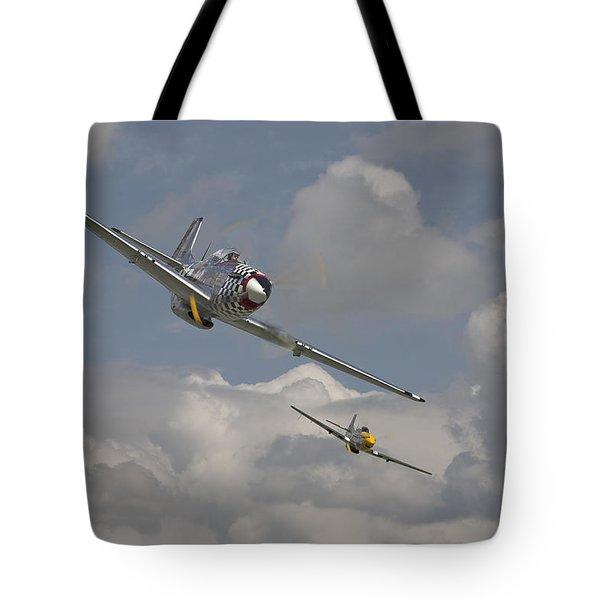 Mustang Pair Tote Bag by Pat Speirs