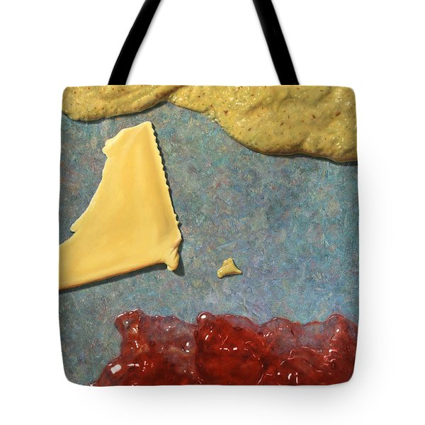 Mustard  Cheese Jam Tote Bag by James W Johnson