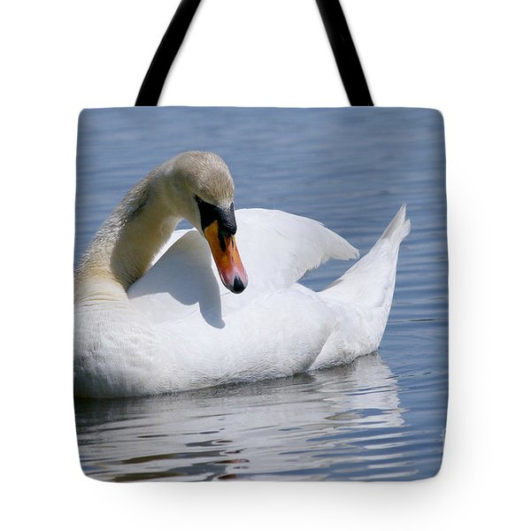 Mute Swan 1 Tote Bag by Sharon  Talson