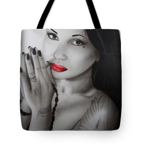 'my Angel Of Light' Tote Bag by Christian Chapman Art