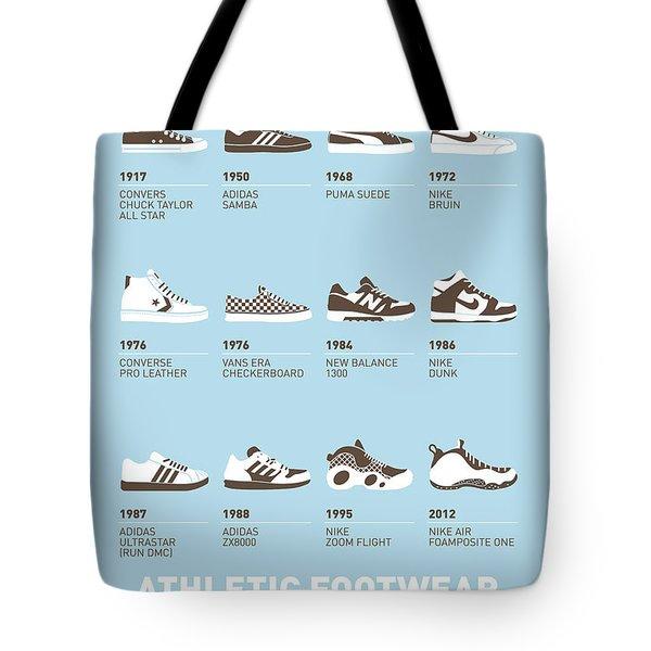 My Evolution Sneaker Minimal Poster Tote Bag by Chungkong Art