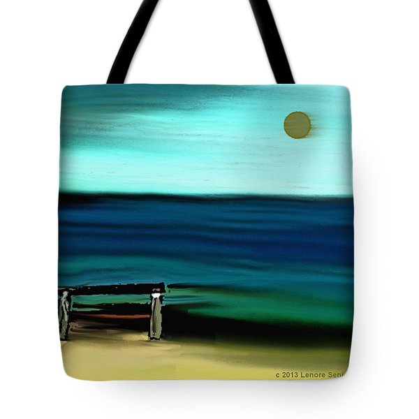 My Father's Bench Tote Bag by Lenore Senior