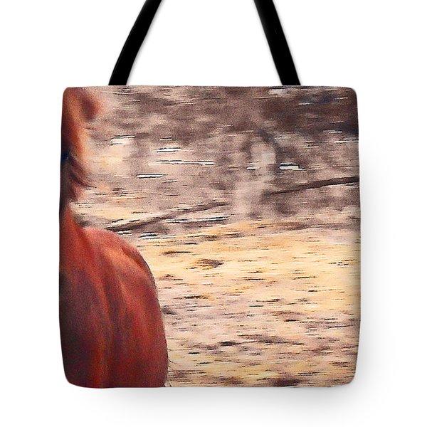 My Fine Friend The Flashy Chestnut Stallion Tote Bag by Patricia Keller