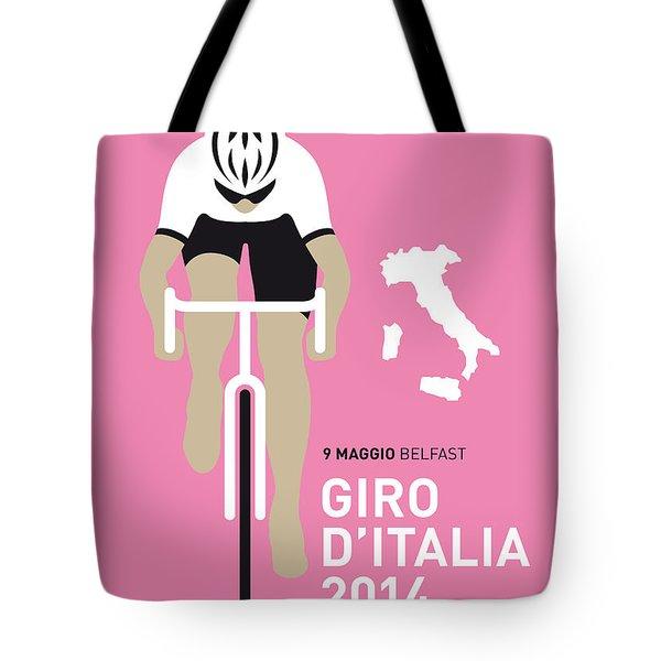 My Giro D Italia Minimal Poster 2014 Tote Bag by Chungkong Art