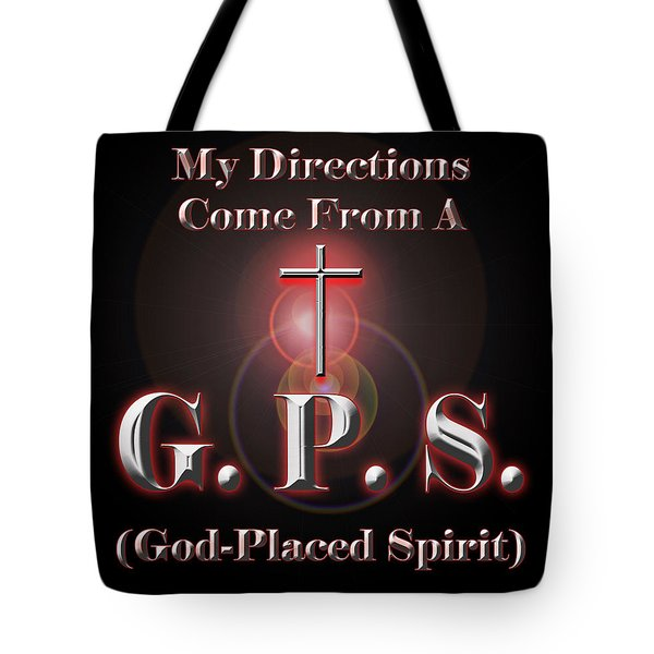 My GPS Tote Bag by Carolyn Marshall