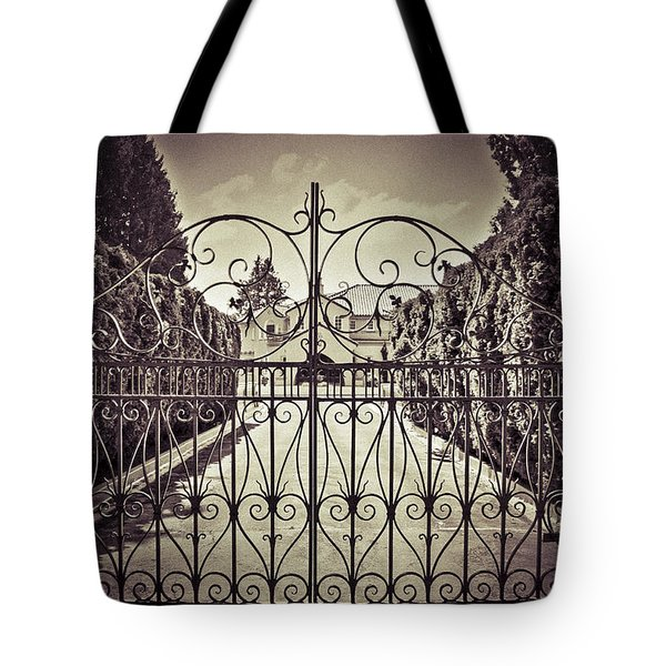 My Home Is My Fortress Vintage Tote Bag by Eti Reid