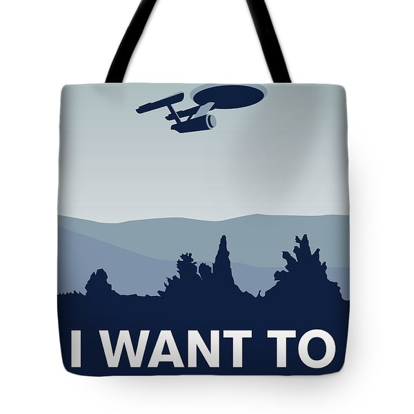My I Want To Believe Minimal Poster-enterprice Tote Bag by Chungkong Art