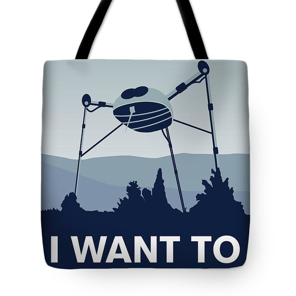 My I Want To Believe Minimal Poster-war-of-the-worlds Tote Bag by Chungkong Art
