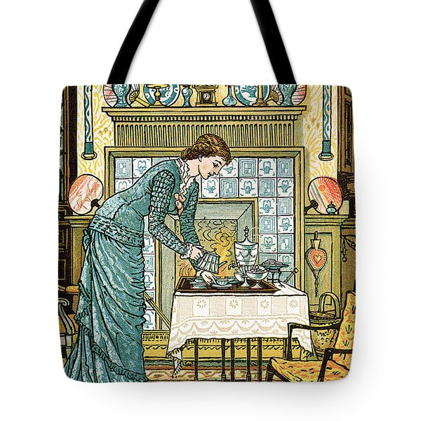 My Lady's Chamber Tote Bag by Walter Crane