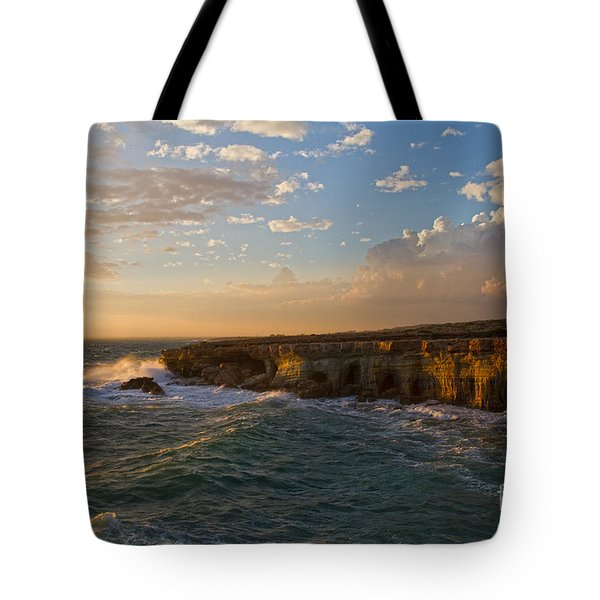 my land is the sea Tote Bag by Stylianos Kleanthous
