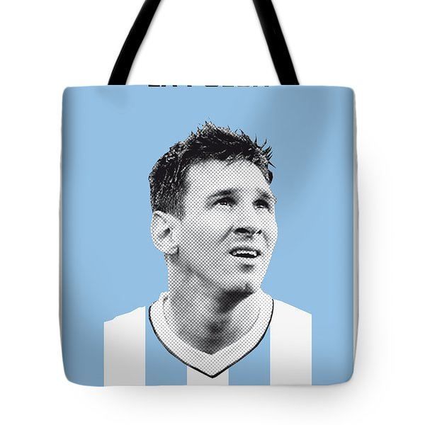 My Messi Soccer Legend Poster Tote Bag by Chungkong Art