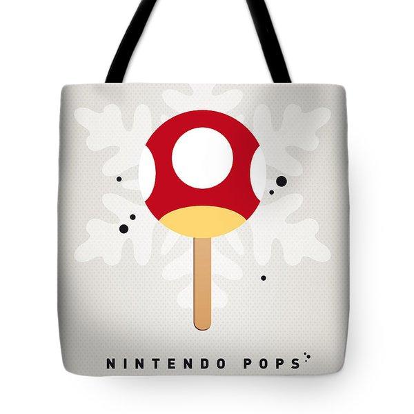 My Nintendo Ice Pop - Mushroom Tote Bag by Chungkong Art