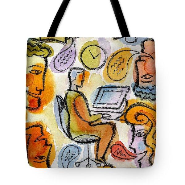 My Office Tote Bag by Leon Zernitsky