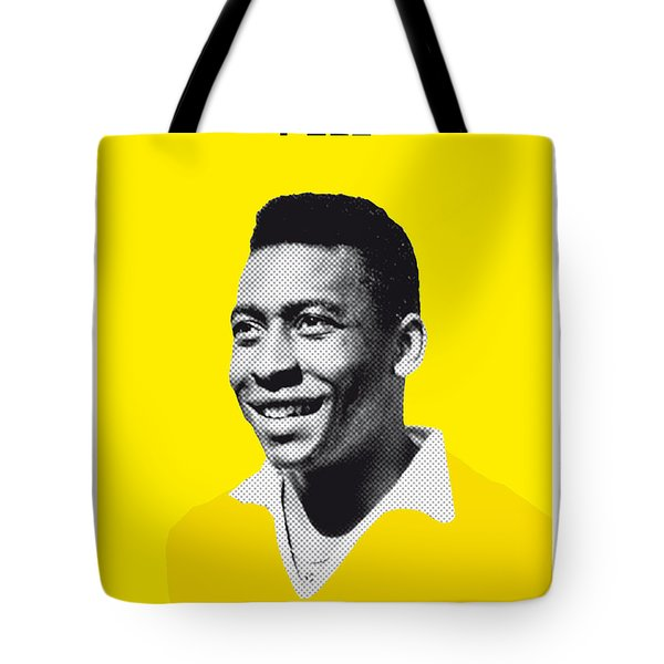 My Pele Soccer Legend Poster Tote Bag by Chungkong Art
