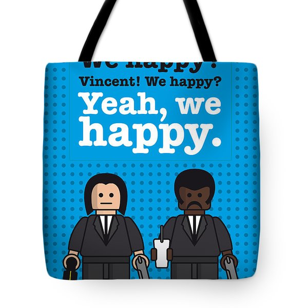 My Pulp Fiction Lego Dialogue Poster Tote Bag by Chungkong Art