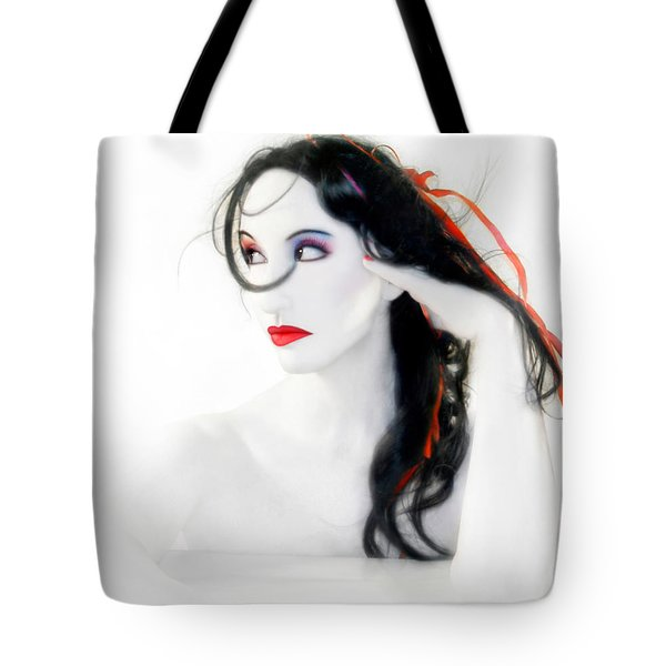 My Red Melancholy - Self Portrait Tote Bag by Jaeda DeWalt