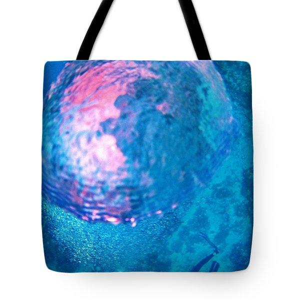 My Reflection In A Divers Bubble Tote Bag by John Malone