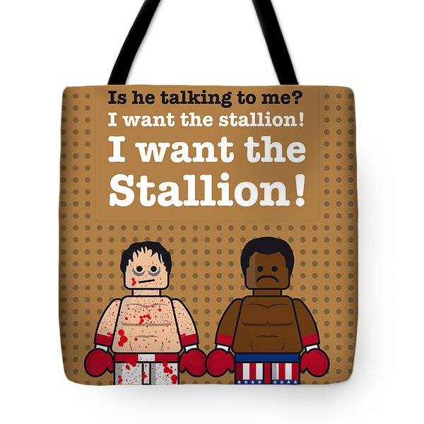 My rocky lego dialogue poster Tote Bag by Chungkong Art