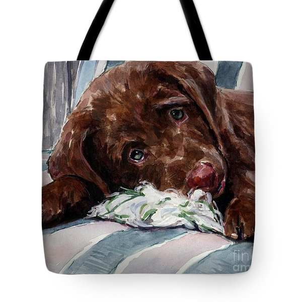My Rope Toy Tote Bag by Molly Poole