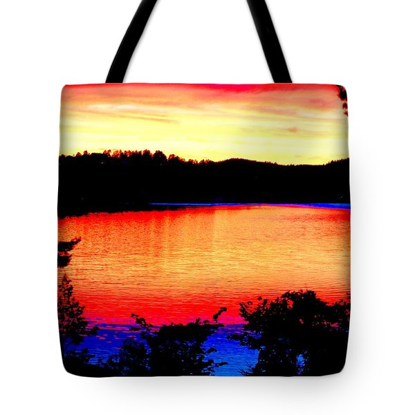 my sunset Tote Bag by Hilde Widerberg
