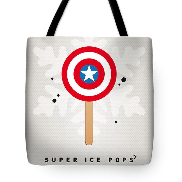 My SUPERHERO ICE POP - Captain America Tote Bag by Chungkong Art