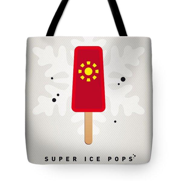 My Superhero Ice Pop - Iron Man Tote Bag by Chungkong Art