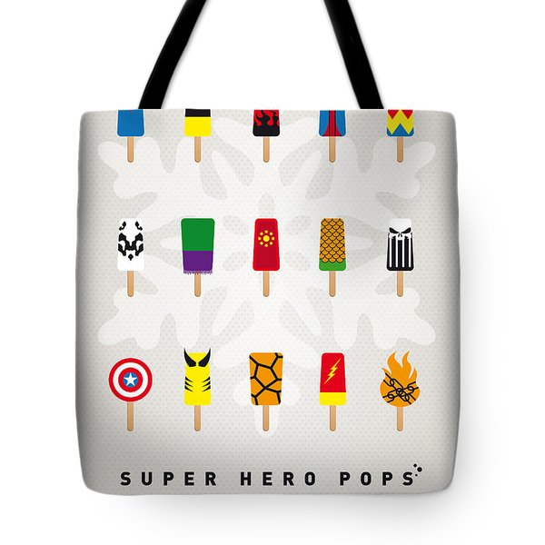 My SUPERHERO ICE POP UNIVERS Tote Bag by Chungkong Art