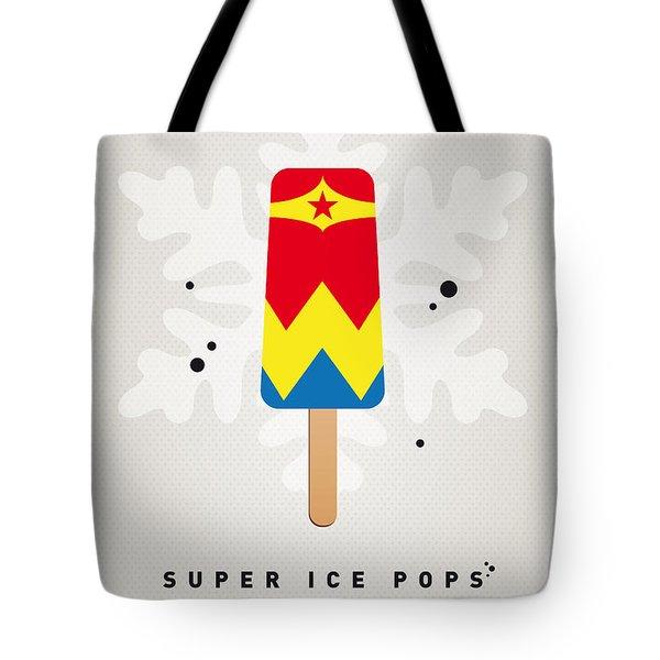 My Superhero Ice Pop - Wonder Woman Tote Bag by Chungkong Art
